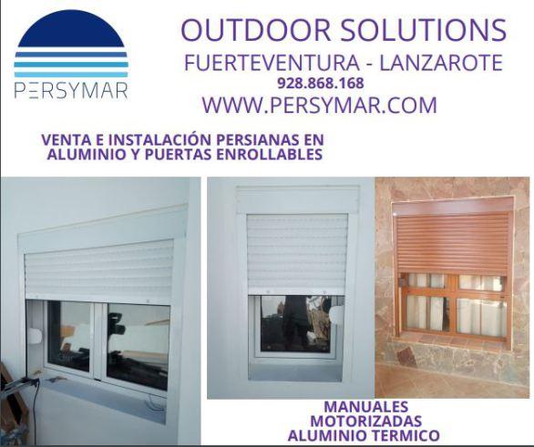 persianas,aluminio,puertas en fuerteventura,puertas seccionales