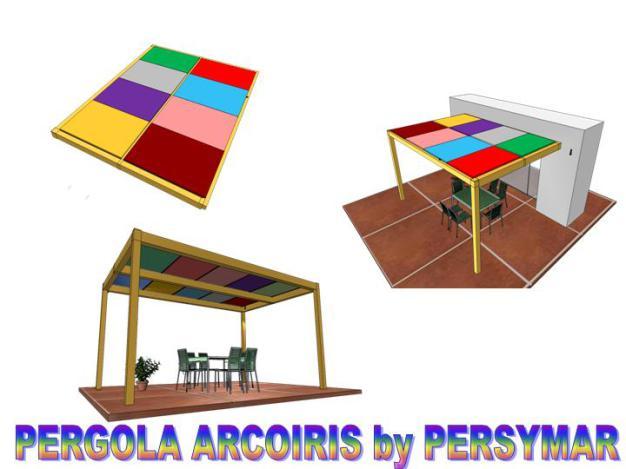 pergola aluminio arcoiris,pergolas en fuerteventura y lanzarote,policarbonato,paneles