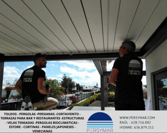 lanzarote,bar,terraza,restaurante,saxun,siplan,pergola bioclimatica,protección solar,outdoor