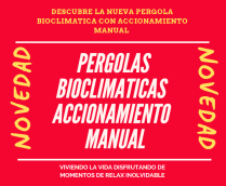 PERGOLAS BIOCLIMATICAS ACCIONAMIENTO MANUAL ,PERGOLAS BIOCLIMATICAS FUERTEVENTURA,LANZAROTE,GRAN CANARIA